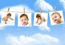 婴孩照片 库存图片