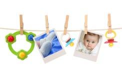 婴孩照片 免版税图库摄影