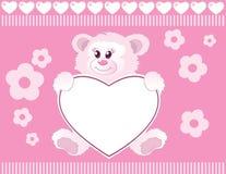 婴孩熊女孩女用连杉衬裤 免版税库存图片