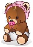 婴孩熊女用连杉衬裤 向量例证