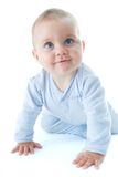 婴孩爬行 免版税图库摄影