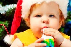 婴孩特写镜头 免版税库存照片