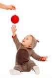 婴孩球演奏舒展的圣诞节现有量 免版税库存照片