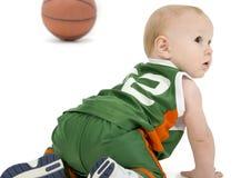 婴孩球篮子 免版税库存图片