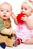 婴孩甜点二 库存图片