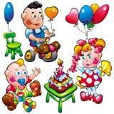 婴孩生日 免版税库存照片