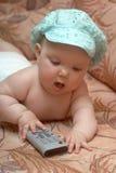 婴孩电视vi 免版税库存照片