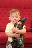 婴孩白肤金发的男孩一点 免版税库存图片