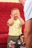 婴孩白肤金发的男孩一点 库存图片