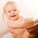 婴孩的体操。 库存图片