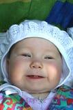 婴孩的第一颗牙 免版税库存照片