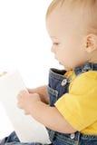婴孩看板卡闪光 库存照片