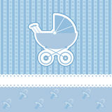 婴孩看板卡阵雨 图库摄影