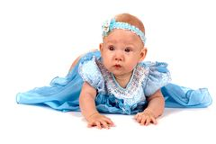婴孩穿戴的女孩井 图库摄影