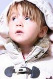 婴孩穿戴的女孩可爱的冬天 图库摄影