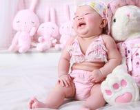 婴孩笑 免版税库存图片