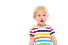 婴孩纵向惊奇的泳装 免版税库存照片