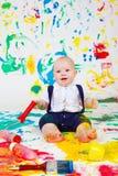 婴孩绘画 免版税库存照片