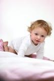 婴孩美丽的女孩红头发人 免版税库存照片