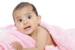 婴孩美丽的特写镜头印地安人孩子 免版税库存图片