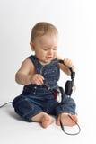 婴孩美丽的男孩 免版税库存照片