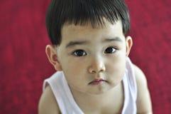 婴孩美丽的眼睛一点 库存照片