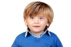 婴孩美丽的蓝色泽西 免版税库存照片
