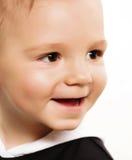 婴孩美好微笑 免版税图库摄影