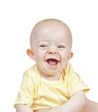 婴孩美好男孩笑小 免版税库存图片
