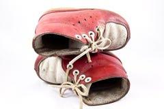 婴孩老鞋子 免版税图库摄影