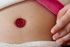 婴孩肚脐 免版税库存照片