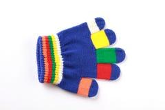 婴孩背景明亮的手套白色 免版税图库摄影