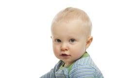 婴孩背景男孩白色 免版税图库摄影