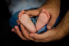 婴孩英尺 愉快概念的系列 母道的美好的概念性图象 图库摄影