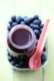 婴孩蓝莓食物 免版税库存图片
