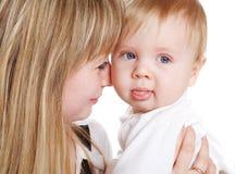 婴孩藏品妇女 库存图片