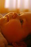 婴孩虚拟口气 免版税库存照片