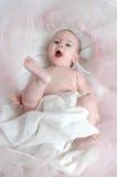 婴孩表达式 库存照片