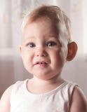 婴孩表面吓唬了 库存图片