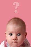 婴孩表面女孩惊奇了 免版税图库摄影