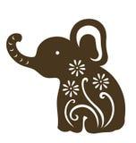 婴孩装饰大象开会 图库摄影