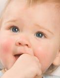 婴孩迷住 免版税图库摄影