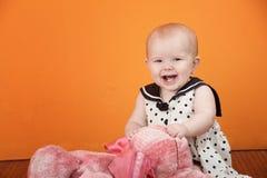 婴孩逗人喜爱使用 免版税库存图片