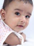 婴孩逗人喜爱印第安语一点 库存照片