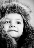 婴孩逗人喜爱帽子佩带 免版税库存图片