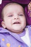 婴孩逗人喜爱微笑 免版税库存照片