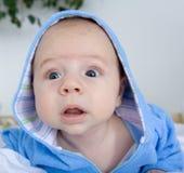 婴孩逗人喜爱想知道 免版税库存照片