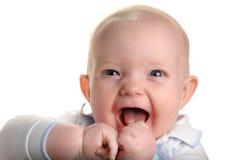 婴孩逗人喜爱愉快 免版税库存照片