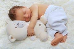 婴孩逗人喜爱新出生 库存照片