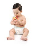 婴孩逗人喜爱查出的赤裸 库存图片